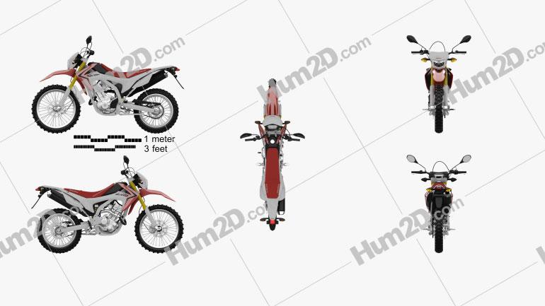 Honda CRF250L 2013 Motorrad clipart