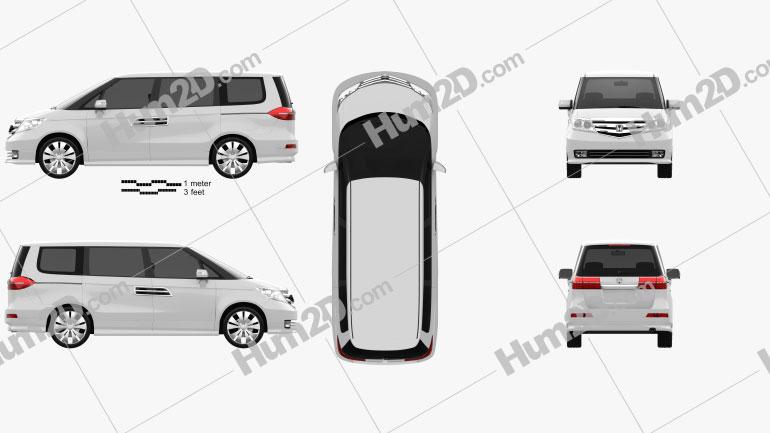 Honda Elysion 2012 clipart