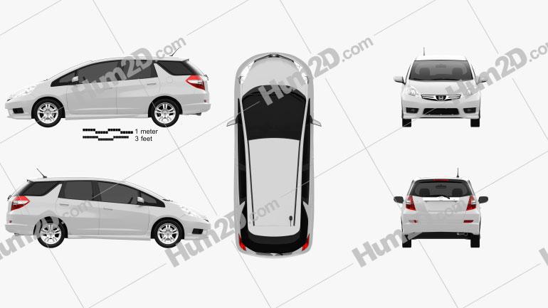 Honda Fit (Jazz) Shuttle 2012 car clipart