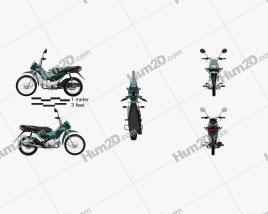 Honda POP 100 2012 Motorrad clipart