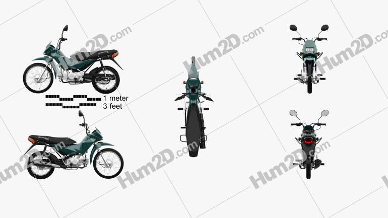 Honda POP 100 2012 Clipart Image