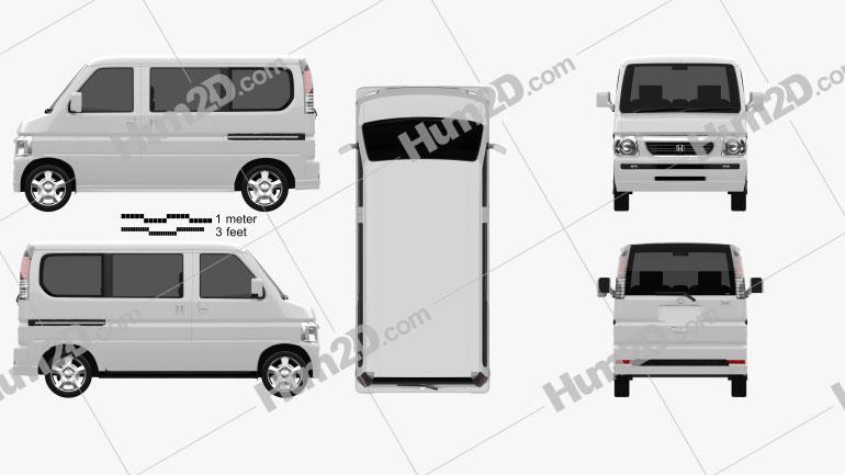 Honda Vamos HM2 2012 Clipart Image