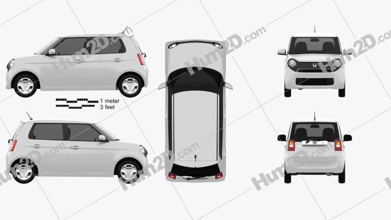 Honda N-One 2013 Clipart Bild
