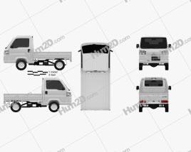 Honda Acty (Vamos) Truck 2012 clipart
