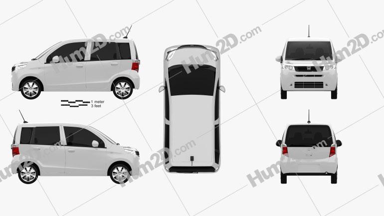 Honda Life 2013 car clipart