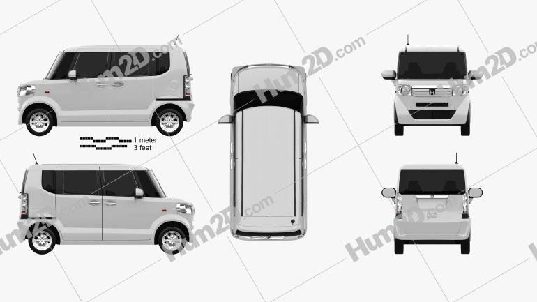 Honda N Box plus JF1 2012 clipart