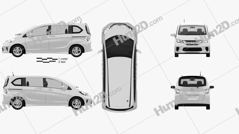 Honda Freed Spike 2012 clipart