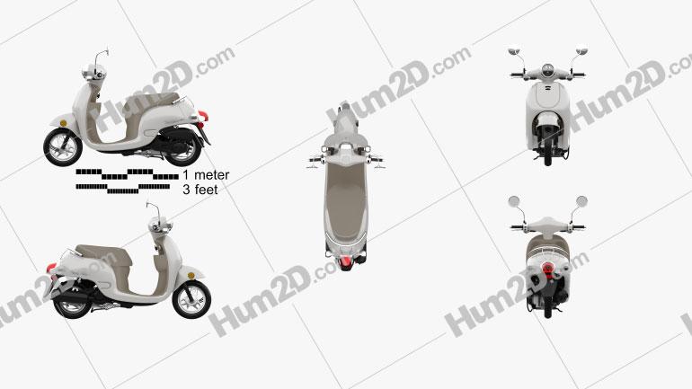 Honda Metropolitan (CHF50) 2013 Clipart Image