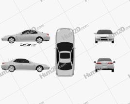 Honda Prelude (BB5) 1997 car clipart