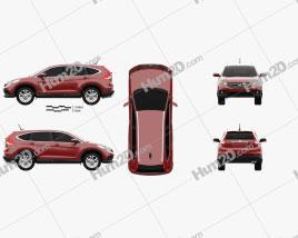 Honda CR-V EU 2012 car clipart