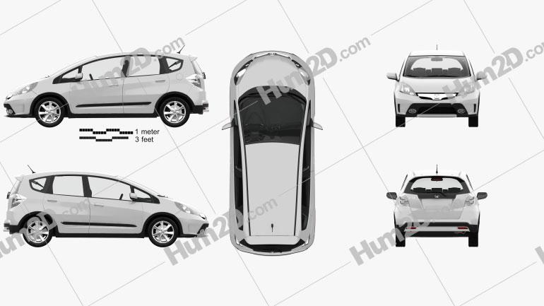 Honda Fit (GE) Twist with HQ interior 2013 car clipart