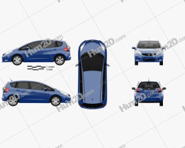 Honda Jazz 2010 car clipart