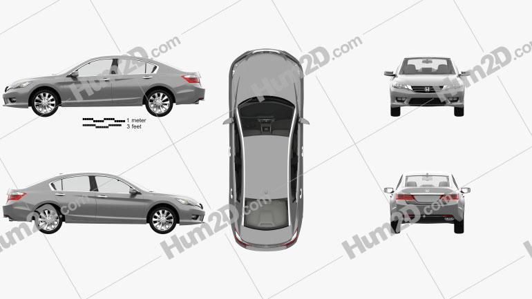 Honda Accord (Inspire) with HQ interior 2013 car clipart