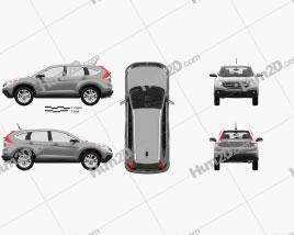 Honda CR-V US with HQ interior 2012 car clipart