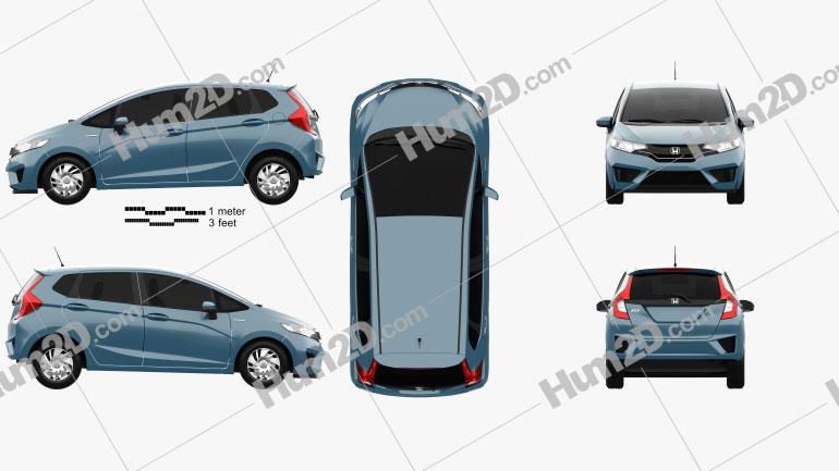 Honda Fit (Jazz) 2014 car clipart