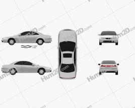 Honda Accord coupe 1998 car clipart