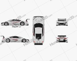 Honda NSX GT 2013 Clipart