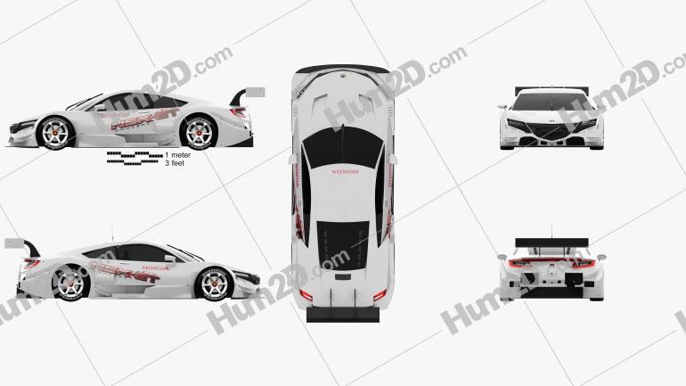 Honda NSX GT 2013 car clipart