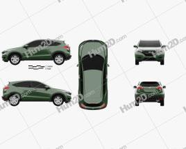 Honda Vezel (HR-V) 2014 car clipart
