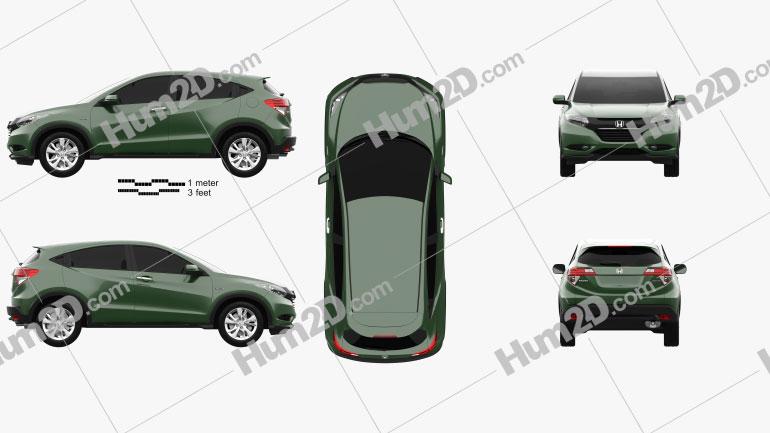 Honda Vezel (HR-V) 2014 Clipart Image