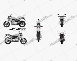 Honda CB300R 2014 Motorcycle clipart