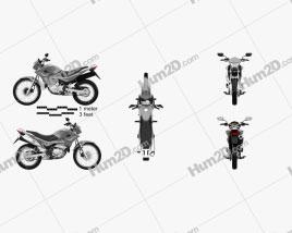 Honda NX 400i Falcon 2014 Motorcycle clipart
