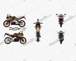 Honda CBR125R 2012 Motorcycle clipart