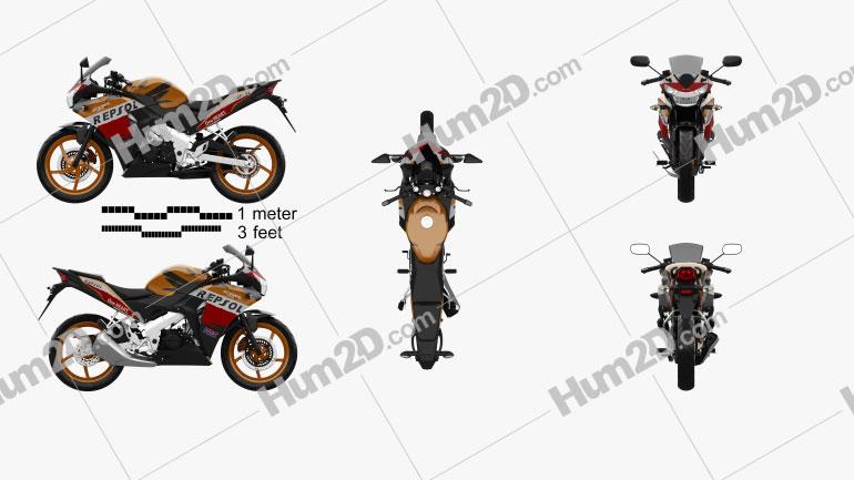 Honda CBR125R 2012 Clipart Bild