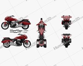 Honda CTX1300 2012 Motorcycle clipart