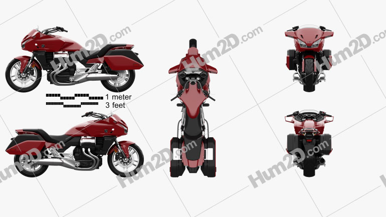 Honda CTX1300 2012 Clipart Image