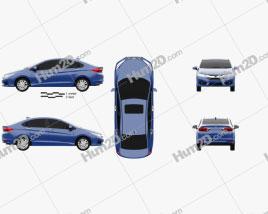 Honda City 2013 car clipart