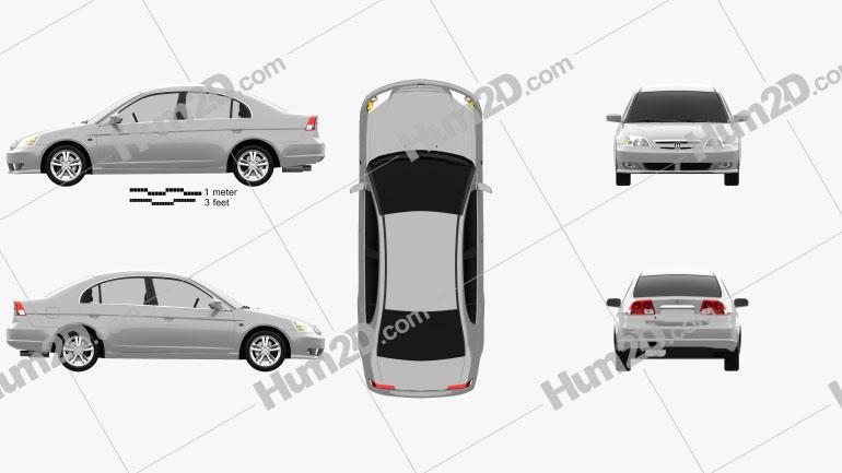 Honda Civic 2001 car clipart