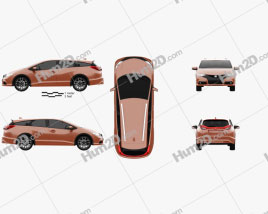 Honda Civic tourer 2014 clipart