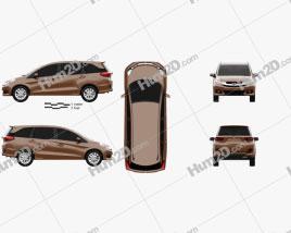 Honda Mobilio 2014 car clipart