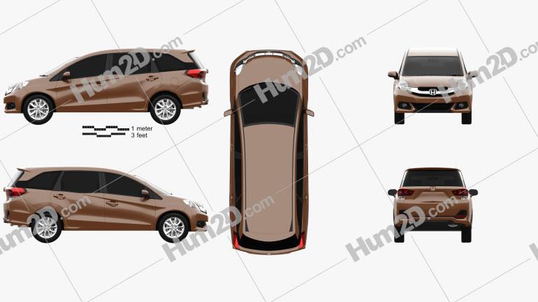 Honda Mobilio 2014 Imagem Clipart