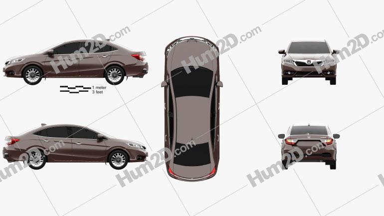 Honda Crider 2014 Clipart Image