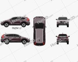 Honda CR-V 2015 Clipart
