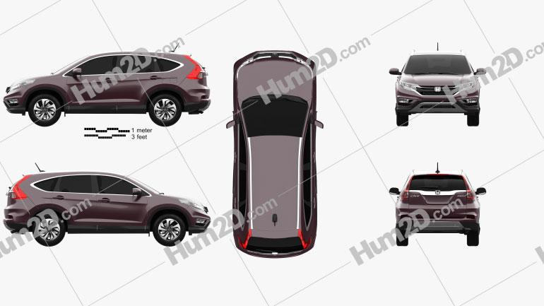 Honda CR-V 2015 Imagem Clipart