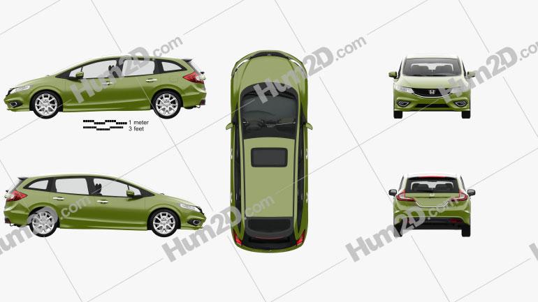 Honda Jade with HQ interior 2014 clipart
