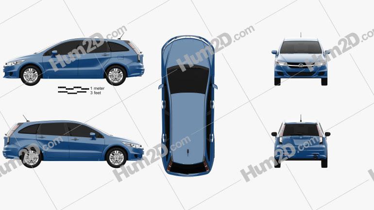 Honda Stream 2009 Clipart Image