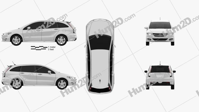 Honda Stream RSZ 2009 car clipart