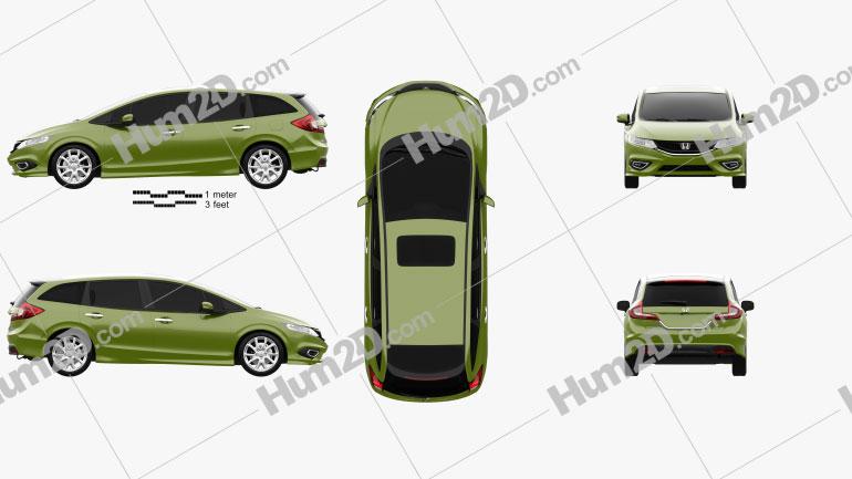 Honda Jade 2014 car clipart