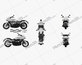 Honda CTX700 2012 Motorcycle clipart