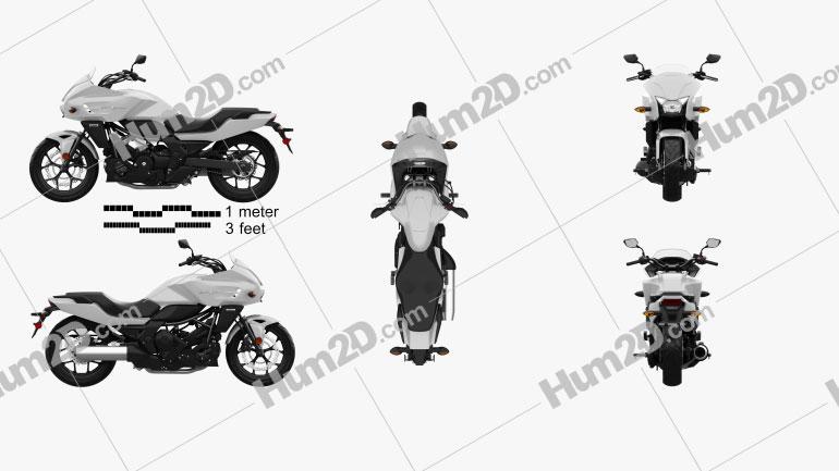 Honda CTX700 2012 Clipart Image