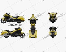 Honda Gold Wing F6B 2013 Motorcycle clipart