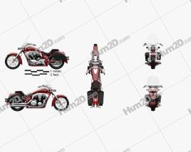 Honda Interstate 2013 Motorcycle clipart