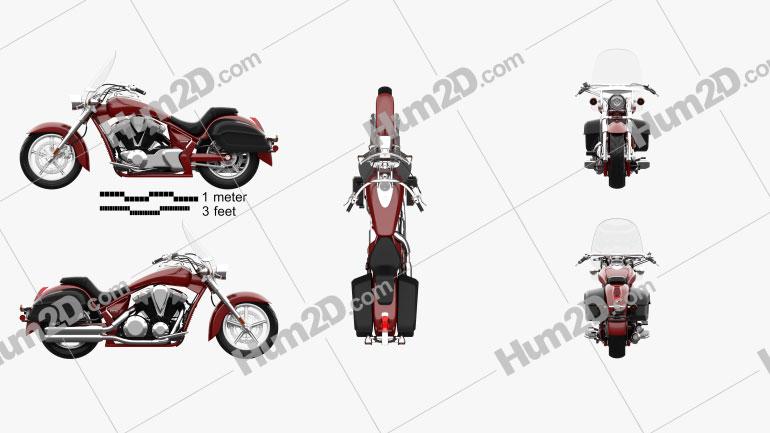 Honda Interstate 2013 Clipart Image
