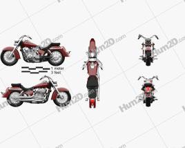 Honda Shadow Aero 750 2013 Motorcycle clipart
