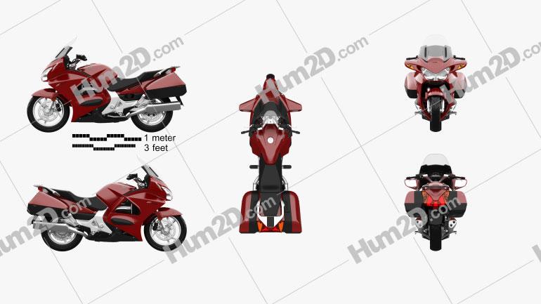 Honda ST1300 2013 Clipart Image