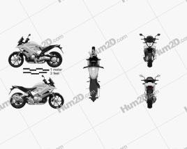 Honda VFR800X Crossrunner 2011 Motorcycle clipart